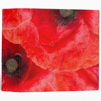 Wild poppies pattern binders