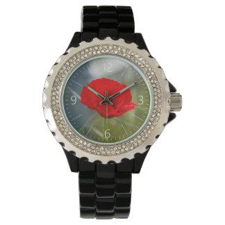 Wild poppy wrist watch