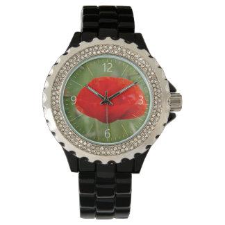 Wild poppy wrist watches