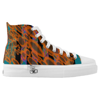 WILD Psychedelic Leopard Print Stripe High Top