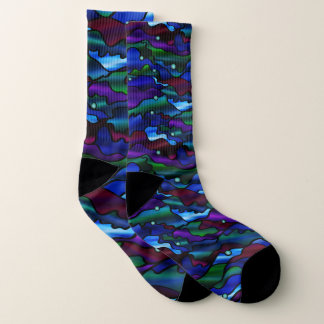 Wild Psychedelic Seascape Design Socks