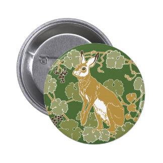 Wild Rabbit 2 Inch Round Button
