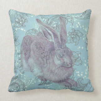 Wild Rabbit with Flowers Pillows