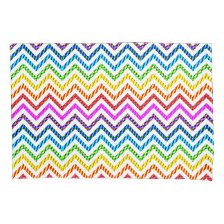 Wild Rainbow Chevron Pattern Pillowcase