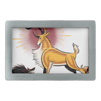 wild rectangular belt buckle
