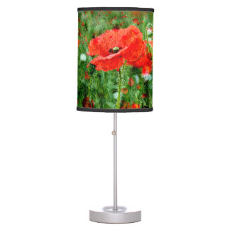 Wild Red Poppy Field Lamp Shade