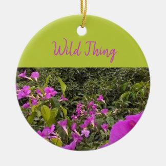 Wild Ribbon TT (aka Garlic vine) Ceramic Ornament
