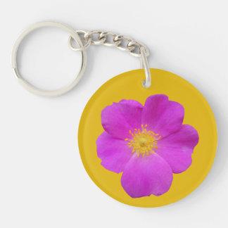 Wild Rose 2 Keychain