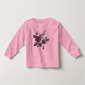 Wild Rose and Butterfly Toddler T-shirt