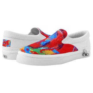 Wild Rose Artist Designed Slip On Sneaker
