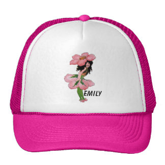 Wild Rose Cute Flower Child Floral Vintage Girl Trucker Hat