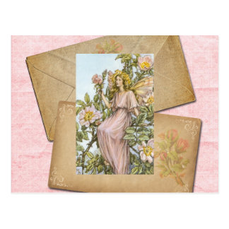 Wild Rose Fairy Card