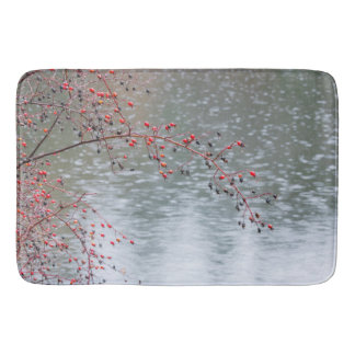 Wild Rose Tree Hanging a Pond | Seabeck, WA Bath Mat