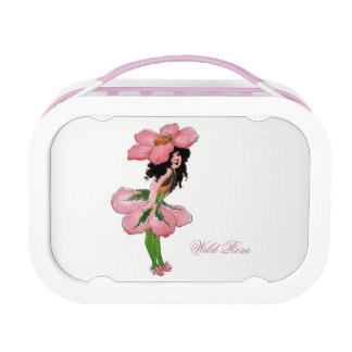 Wild Rose Vintage Cute Flower Child Girl Floral Lunch Box