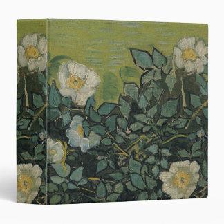 Wild Roses by Vincent Van Gogh 3 Ring Binder