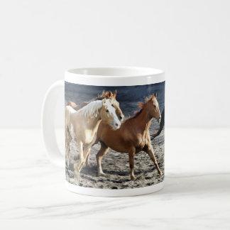 Wild running horses coffee mug