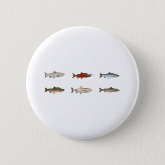 Wild Salmon 2 Inch Round Button