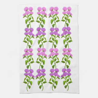 Wild Scottish Thistle Floral Kitchen Towel