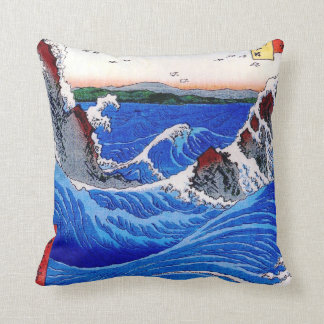Wild Sea Breaking on the Rocks Throw Pillow