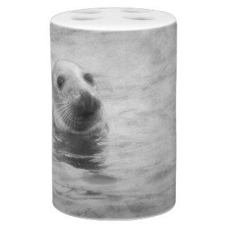 Wild Seal black and white Bathroom Set