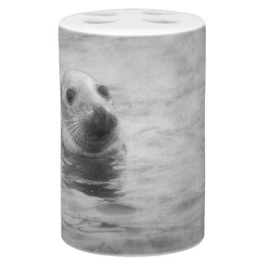 Wild Seal black and white Bathroom Set