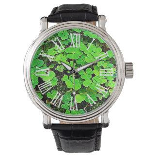 Wild Shamrock Green Personalized St. Patrick's Day Watch