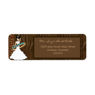 Wild Side Raven Bride Address Labels