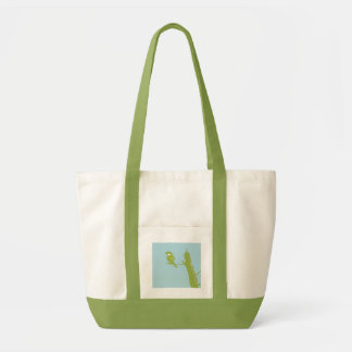 Wild Sparrow on Blue - Customized Tote Bag