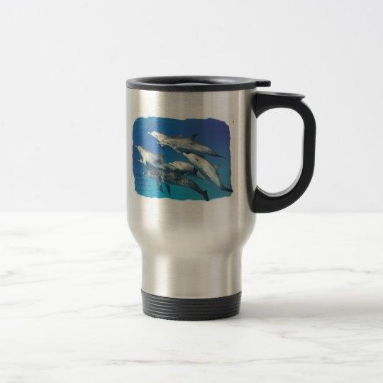 wild spotted dolphin travel mug