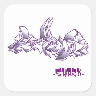 Wild Square Graffiti Sticker
