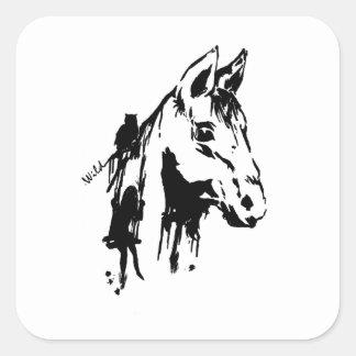 wild square sticker