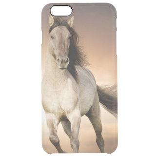 Wild Stallion Running In Sunset Clear iPhone 6 Plus Case