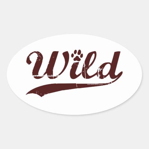 Wild Oval Stickers