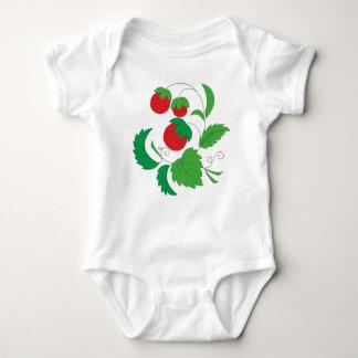 Wild strawberries baby bodysuit