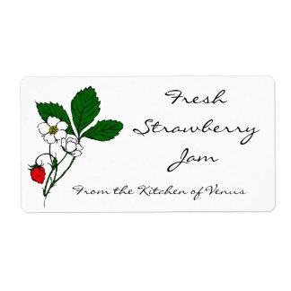Wild Strawberry Custom Canning Labels