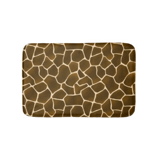 Wild Style Giraffe Spots Animal Skin Safari Print Bathroom Mat