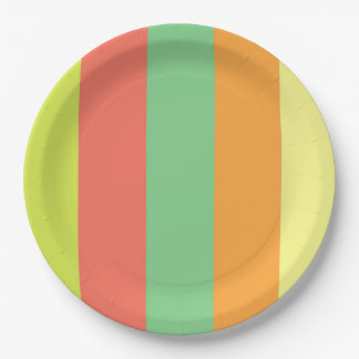 Wild Summer Stripes 9 Inch Paper Plate