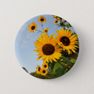 Wild Sunflowers 2 Inch Round Button