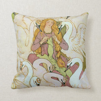 Wild Swans Eleanor Abbott Fine Art Throw Pillow