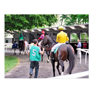"""Wild Target"" and Jose Lezcano in the Paddock Postcard"