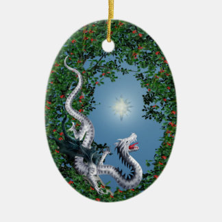 Wild Thing Ceramic Oval Ornament