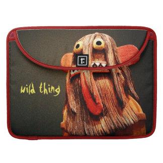 Wild thing cute fun face photo Macbook Pro sleeve