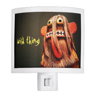 """Wild thing"" cute funny odd face photo night light"