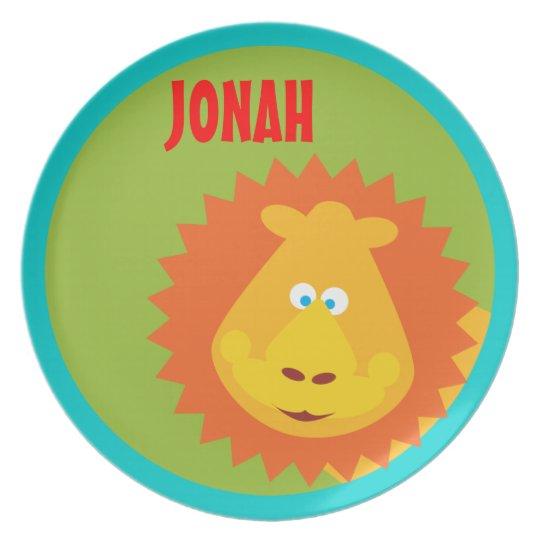 Wild Thing Lion Kids Safari Custom Plate