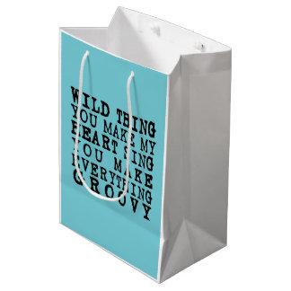 """""""WILD THING"""" Lyrics Gift Bag!! Medium Gift Bag"""