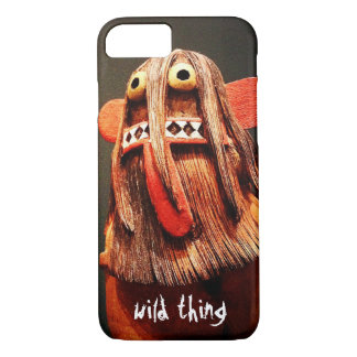 """Wild Thing"" Quote Cute, Silly, Funny Face Photo iPhone 8/7 Case"