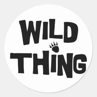 Wild Thing Round Sticker