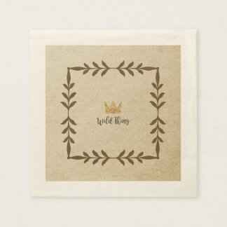 Wild Thing Vine Napkin Disposable Napkins