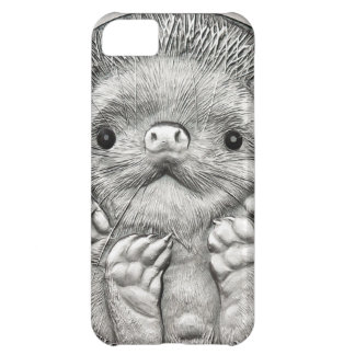 WILD THINGS: Little Silver Hedgehog iPhone 5C Covers