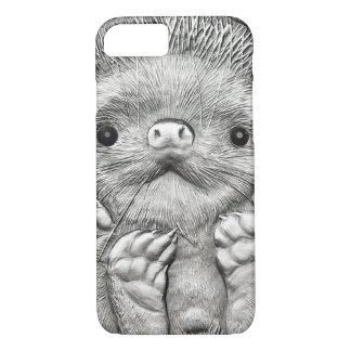 WILD THINGS: Silver Hedgehog iPhone 7 Case